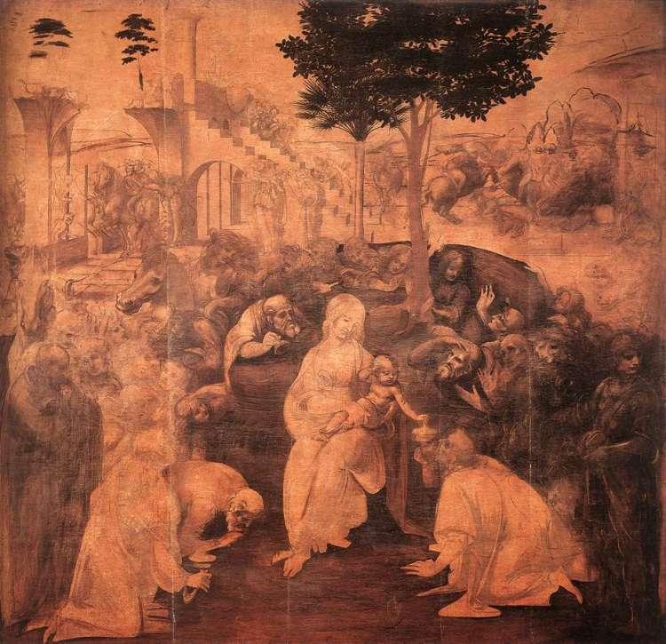 Leonardo da Vinci: Tilbeiðsla vitringanna