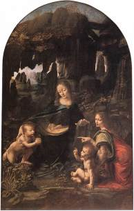Mar�a á klettinum eftir Leonardo da Vinci
